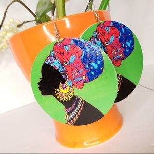 New Large African Queen Boho Chic Dangle Earrings